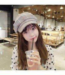 hembra al aire libre japonés vintage pato sombrero otoño e invierno moda