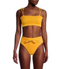 peixoto women's cleo bikini top - marigold - size m