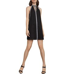 striped eyelet halter dress
