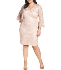 plus size women's js collections bell sleeve mesh shift dress