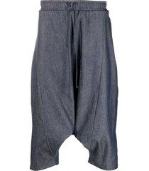 alchemy drop-crotch trousers - blue