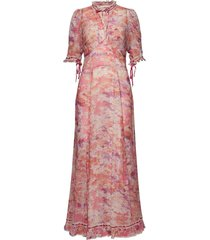 georgette lace gown maxi dress galajurk roze by ti mo