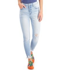 celebrity pink juniors' high rise ripped skinny jeans