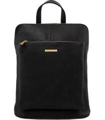 tuscany leather tl141682 tl bag - zaino donna in pelle morbida nero