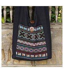 cotton handbag, 'tribal tradition' (thailand)