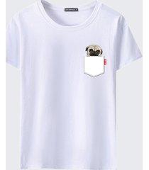 maglietta casual estiva da uomo manica corta stampata o-collo manica corta
