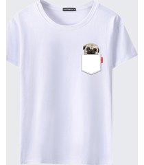 magliette casual estive a maniche corte con stampa o-collo da uomo