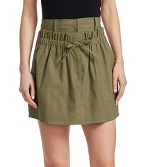 kent linen mini skirt