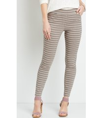 maurices womens houndstooth bengaline skinny ankle pants