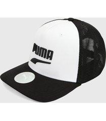 gorra negro-blanco puma classics