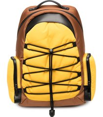 canali colour-block zip-up backpack - yellow