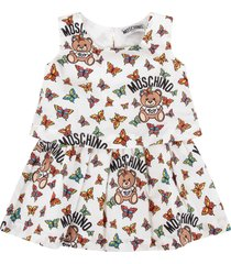 moschino white babygirl suit with teddy bears