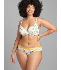 lane bryant women's cotton lightly lined t-shirt bra 40ddd lemons
