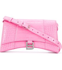 balenciaga hourglass sling bag shoulder bag - pink