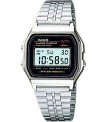 reloj casio a_159w_n1 plateado acero inoxidable
