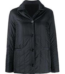 aspesi vertically quilted jacket - black