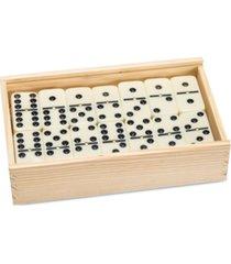 "premium set of 55 double nine dominoes with wood case, 2"" x 4.625"" x 7.625"""