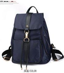 mochila casual mujeres- mochila bandolera de la señora-azul