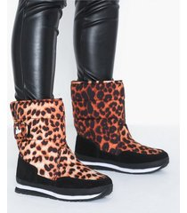rubber duck nylon suede print snowjogger flat boots