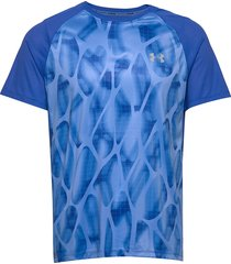 m ua qualifier iso-chill printed short s t-shirts short-sleeved blå under armour