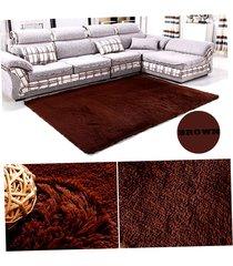 ey alfombra de lana marrón salón dormitorio-café