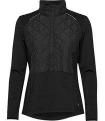 lds troon hybrid 1/2 zip sweat-shirt trui zwart abacus