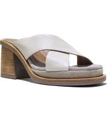 sandalia  de cuero natural felmini barcelona