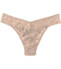 women's hanky panky original rise thong, size one size - beige
