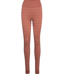 monogram tights legging bruin holzweiler