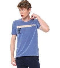 camiseta calvin klein jeans corporation azul