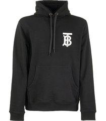 burberry landon tb - monogrammed cotton hoodie