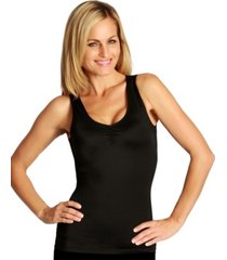 instantfigure shirred bust tank top with high back