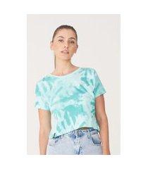 camiseta ecko feminina estampada verde água