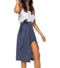 falda charlie azul pilar buenos aires
