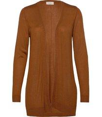 elina-l-car stickad tröja cardigan brun free/quent