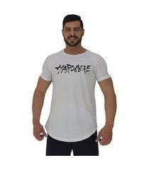 camiseta longline alto conceito hardcore branco