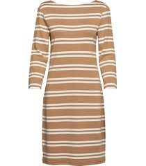 d1. striped dress jurk knielengte bruin gant