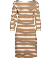 d1. striped dress jurk knielengte bruin gant