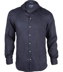 blue navy linen shirt