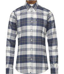 barbour endsleigh highland check overhemd casual blauw barbour