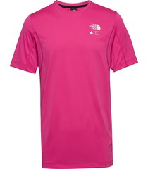 m glacier s/s tee t-shirts short-sleeved rosa the north face