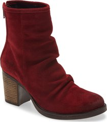women's bos. & co. bevy block heel bootie, size 8-8.5us - red