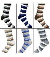 men's warm fuzzy socks striped cool fluffy colorful winter comfortable fun us