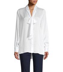 bow-neck blouse