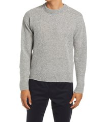 men's john elliott crewneck powder knit wool blend sweater, size large - grey