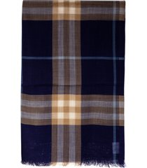 burberry giant check gauze scarf