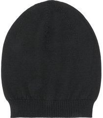 rick owens fine knit beanie - black