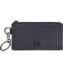dolce & gabbana card holder in calfskin with logo