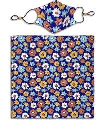 construct x best friends unisex flower curved mask and bandana set