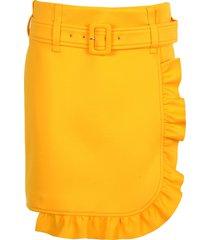prada prada ruffle-trim skirt